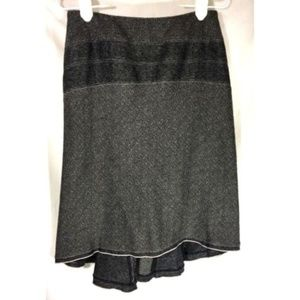 Nine West  Skirt Size 2 Petite Gray Wool Blend